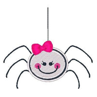 Halloween spider machine embroidery design by rosiedayembroidery.com