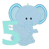 Baby elephant machine embroidery design by rosiedayembroidery.com