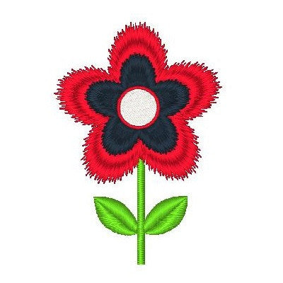 Mini fill stitch flower machine embroidery design by embroiderytree.com