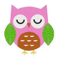 Cute owl machine embroidery design by embroiderytree.com
