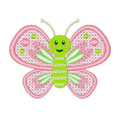 Butterfly machine embroidery design by embroiderytree.com