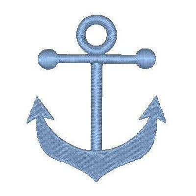 Ship's anchor machine embroidery design by embroiderytree.com