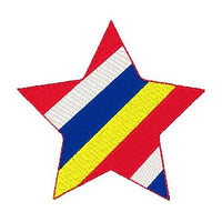 Star machine embroidery design by embroiderytree.com