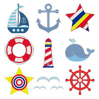 Sailing Away Set of machine embroidery designs by embroiderytree.com