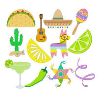 Fiesta Fun Set machine embroidery designs by embroiderytree.com