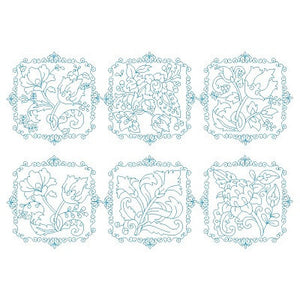Les Fleurs Belle Biazze Quilt Blocks - Set 1 - Embroidery Tree  - 1