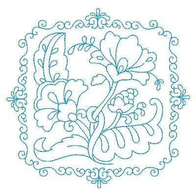 Les Fleurs Belle Biazze Quilt Blocks - 12 - Embroidery Tree