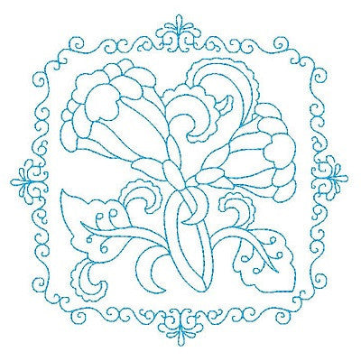 Les Fleurs Belle Biazze Quilt Blocks - 9 - Embroidery Tree