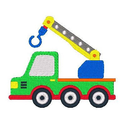 Hiab truck machine embroidery design by embroiderytree.com