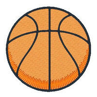 Basketball fill stitch machine embroidery design by rosiedayembroidery.com