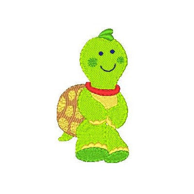 Baby turtle machine embroidery design by embroiderytree.com