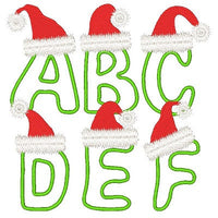 Christmas Alphabet- Full Set - Embroidery Tree  - 1