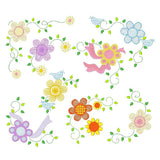 Floral Corners - Set of 8 Machine Embroidery Designs by embroiderytree.com