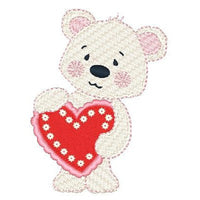 Valentine bear machine embroidery design by embroiderytree.com