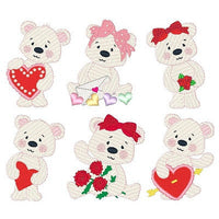 Valentine Bears Set - machine embroidery designs by embroiderytree.com