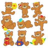Fuzzy Bears machine embroidery designs by embroiderytree.com