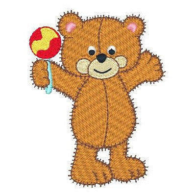 Old fashioned bear machine embroidery design by embroiderytree.com