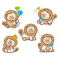 Sweet little lions applique machine embroidery designs by embroiderytree.com