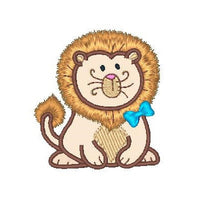 Sweet little lion applique machine embroidery design by embroiderytree.com