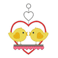 Love birds machine embroidery design by embroiderytree.com