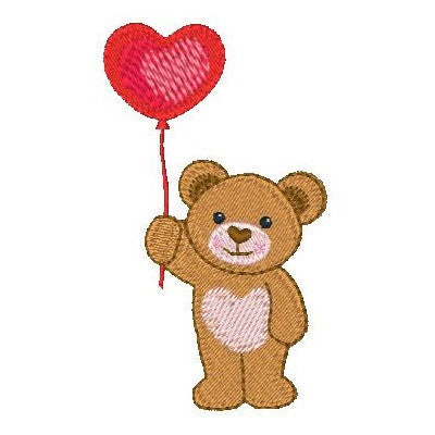 Valentine teddy bear machine embroidery designs by embroiderytree.com