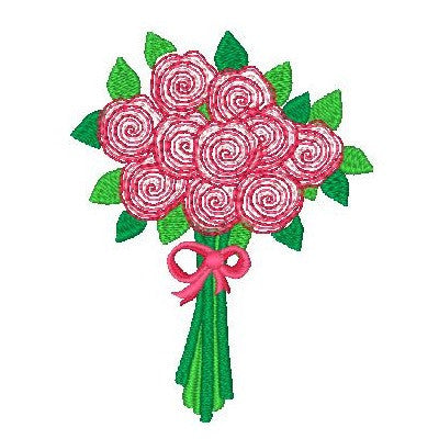 Floral machine embroidery design by embroiderytree.com