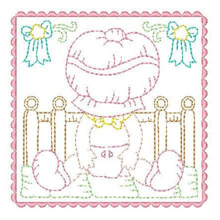 Sunbonnet Baby Blocks - 1 - Embroidery Tree