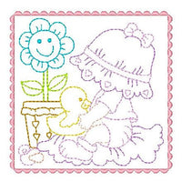 Sunbonnet Baby Blocks - 7 - Embroidery Tree