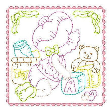 Sunbonnet Baby Blocks - 8 - Embroidery Tree