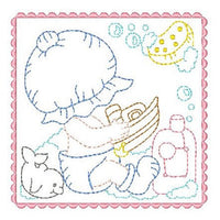 Sunbonnet Baby Blocks - 9 - Embroidery Tree