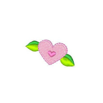 Mini fill stitch heart machine embroidery design by rosiedayembroidery.com