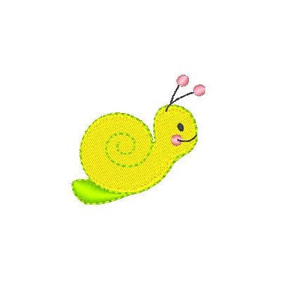 Cute snail machine embroidery design by rosiedayembroidery.com