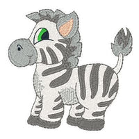 Baby zebra machine embroidery design by rosiedayembroidery.com