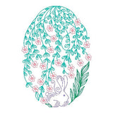 Easter egg machine embroidery design by rosiedayembroidery.com