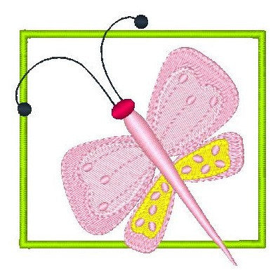 Butterfly applique machine embroidery design by rosiedayembroidery.com