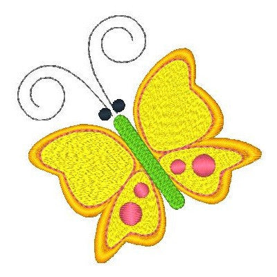Butterfly machine embroidery design by rosiedayembroidery.com