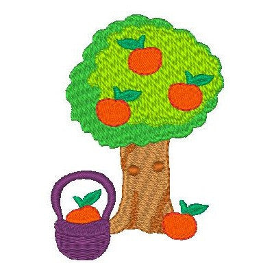 Apple tree machine embroidery design by rosiedayembroidery.com