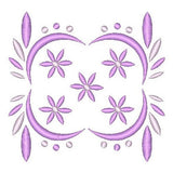 Purple floral machine embroidery design by rosiedayembroidery.com