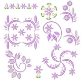 Purple Floral Set - machine embroidery designs by rosiedayembroidery.com