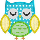 Owl applique machine embroidery design by rosiedayembroidery.com