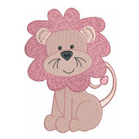 Baby lion fill stitch machine embroidery design by rosiedayembroidery.com