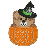 Halloween puppy applique machine embroidery design by rosiedayembroidery.com