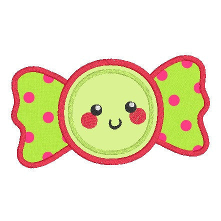 Kawaii candy applique machine embroidery design by rosiedayembroidery.com