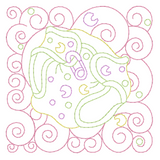Baby quilt block linework machine embroidery design by rosiedayembroidery.com