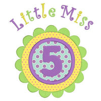 Girl's 5th birthday applique machine embroidery design by rosiedayembroidery.com