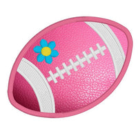 Girl's football applique machine embroidery design by rosiedayembroidery.com