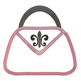French handbag applique machine embroidery design by rosiedayembroidery.com