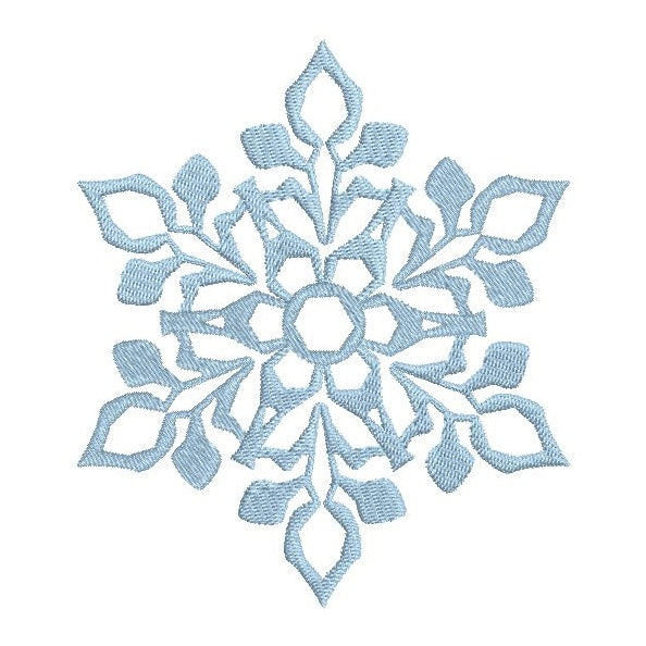 Snowflake machine embroidery design by rosiedayembroidery.com