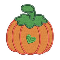 Halloween pumpkin machine embroidery design by rosiedayembroidery.com