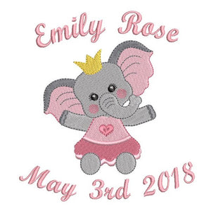 Baby birth announcement template machine embroidery design by sweetstitchdesign.com